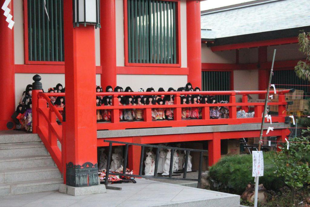 lalki japońskie - gdzie zobaczyć awashima jinja