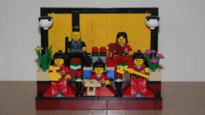 Zabawa motywem - lego hina ningyo